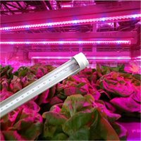 Wholesale t8 blue light - led grow light 2ft 4ft 5ft T8 Integrated Led Tube Grow Lights SMD2835 18W 27W 36W Hidroponia Plants Hydroponic Grow Box AC 90-265V