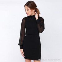 Wholesale Hot Spandex Mini Skirts - hot sale Women Dress Pure Color Sexy Backpack Hip Pencil Skirt Slimming Splicing Dress wholesale HRX07
