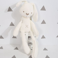 Wholesale mini plush bunnies - Cute Rabbit Bunny Baby Soft Plush Toys Mini Stuffed Animals Kids Baby Toys Smooth Obedient Sleeping Rabbit Doll Free Delivery