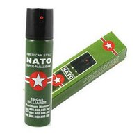 Wholesale 2017 Hot Sell NEW NATO CS GAS ML TEAR GAS PEPPER SPRAY sex maniac Security self defense Tool Free Ship