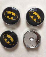 Wholesale Ford Badge Wholesale - 4pcs 60mm Batman Wheel Center Cover Hub Cap 3D car badges emblem Bat Man For Ford Audi