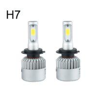 Wholesale Car Auto H7 Xenon White - Auto Car Light H7 Led H4 H1 H3 H8 H11 9005 9006 LED Headlights 6500K xenon white 72W 8000LM COB Chip Automobiles Parts Lamp Bulb