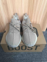 2017 Kanye West Boost 350 V2 DA9572 Dark Green Hollow Fluoreszierende Herren Laufschuhe Creme White Hollow Sneakers mit Box