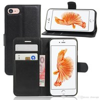 Wholesale Wholesale Magnetic Cards - Wallet leather flip Magnetic case for iPhone 7 8 Plus Samsung Galaxy S8 Plus PU book case with Stand