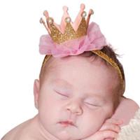 Wholesale Kids Plastic Hair Ties - Baby Girl Hair Accessories Baby Headbands Flower Crown Kids Elastic Hair Bands Hair Ties Headband Baby Girl Faixa De Cabelo Good