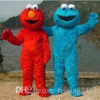 Wholesale Drop Mascot Costume - Adult Size Red Elmo Mascot Costume Party Costumes Chirstmas Fancy Dress elmo costume mascot drop shipping