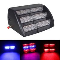 Wholesale Led Deck Lights Strobe - fireman led strobe light 18 Amber White LED 3 Mode Interior Emergency Deck Dash Flash Strobe Lights