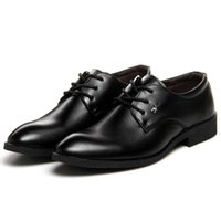 Homme Chaussures En Cuir Oxford Business Chaussures Point Toe Solide Lace-Up Noir Respirant Robe Hommes Formelles Chaussures Mocassins Mâle Appartements 111X