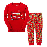 Wholesale Babys Red Clothes - Childrens Pajamas Boys Sets Printed MacQueen Kids Long Sleeve 2016 Newest Babys Set Foy Boys Children Outside Clothing Sports Sets