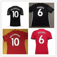 Wholesale United Player - AAA HOT Player version 17 18 running top Quality POGBA Ibrahimovic soccer jersey 17 18 UnITED Ibrahimovic MEMPHIS ROONEY jersey shirts