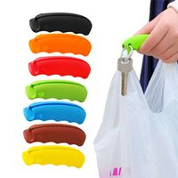 Wholesale random tools - 1Piece Random Color Bag Carrying Handle Tools Silicone Knob Relaxed Carry Shopping Handle Bag Clips Handler Kitchen Tools