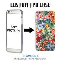 Wholesale Iphone Cases Print - Hot Selling DIY Personalised Unique Customized Printing Mobile Phone Case Painted Pattern Transparent Soft TPU Case For iphone 7 7plus Case