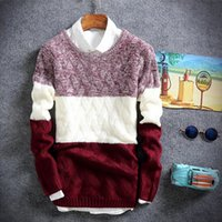 Wholesale Korean Style Clothes Men - New Style winter pullover sweater brand knitting long sleeve O-neck Slim Korean fashion clothes men sweater