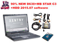 Beste Qualität 12V / 24V MB STAR C3 für Mercedes Benz Auto / LKW OBD2 Scanner SD C3 + D630 Laptop + v2015 07 Software HDD Diagnose-Tool