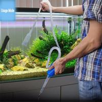 agua de tanque de peces al por mayor-Longitud 103cm acuario herramienta de limpieza manual sifón Grava Fish Tank tubo de succión filtro de agua de vacío cambio bomba herramientas V4201