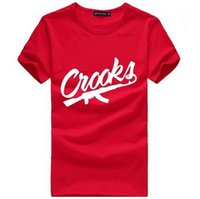 Wholesale Blue Red T Shirt - Crooks And Castles T Shirts Men Short Sleeve Cotton Man T-Shirt CROOKS Letter Mens t shirt Tops Tee Shirt