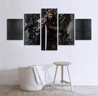 More Panel painting of landscape - 5pcs set Unframed TV play Game of Thrones Iron Throne HD Print On Canvas Wall Art Painting For Living Room Decor