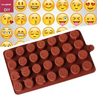 Wholesale Diy Silicone Soap Mould - Emoji Funny Face DIY Silicone Mold For Cake Chocolate Sugar Candy Soap Baking Mould Smiley kurabiye silikon kalip Black Friday