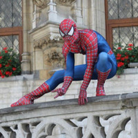 traje de assassino negro venda por atacado-Cosplay Spiderman Suit impressão 3D Spidey Cosplay Suit Halloween Spiderman Cosplay Spiderman Costumes frete grátis