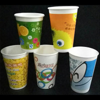 Wholesale Disposable Paper Tea Cups - 100PCS LOT disposable paper cup printing round gold foil cup party supplies, Customizable logo , Coffee tea up, free shipping