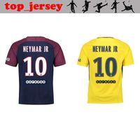 Wholesale Paris Home - 2018 Neymar jr soccer jersey paris home away jersey Di Maria Matuidi Silva Ben Arfa Cavani Draxler Dani Alves Football jerseys shirt