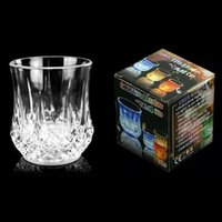 Wholesale Neon Acrylic Led - Colorful Acrylic Led Cup Flashing Shot Led Plastic Luminous Neon Cup Birthday Party Night Bar Wedding Beverage Wine flash small cup