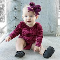 Wholesale Girls Vintage Romper - Everweekend New Sweet Baby Girls Soft Vintage Romper Western Fashion Ins Hot Sell Long Sleeve Clothing Lovely Toddler Baby Clothes