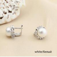 Wholesale Purple Black Pearl Earrings - YouNoble real flower natural freshwater pearl earrings for women,black purple pearl 9-10mm wedding earring jewelry girl fancy best gift
