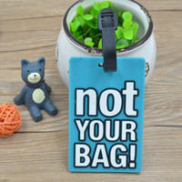 Wholesale plastic luggage labels - Cute Warning Luggage Label Politeness English Words Printing Silicone Practical Travel Suitcase Bag Label Travel Accessories