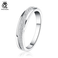 Wholesale 925 silver materials - Silver 925 Ring,Frosted Surface,Genuine S925 Sterling Silver Material,3 Layer Platinum Plated Free Shipping OR11