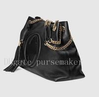 Wholesale Cowhide Tote Handbags - Top Quality Designer Women Genuine Leather Cowhide Handbags Fashion Tassel Soho Shoulder Bag With Chain G 38cm or 26cm #308982