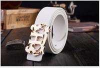 Wholesale Wholesale Designer Mens Belts - 2017 new large buckle imitation leather belt designer belts men women Leisure new mens women's belts luxury brand belt free shipping AO3-27