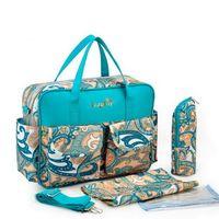 moda bebê fralda sacos venda por atacado-Atacado Moda Bebê sacos das fraldas nylon impermeável Mommy Bag Nappy BagWith bolso Breeding Bottle