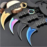 Wholesale Fighting Tools - Cool Hunting Karambit Knife CS GO Never Fade Counter Strike Fighting Survival Tactical Knife Claw Camping Knives Tools