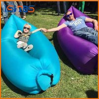Wholesale Outdoor Pads Inflatable Air Sleeping Bag Hangout Lounger Air Boat Air Lazy Sofa Camping Sleeping Bed Fast Inflatable Colors