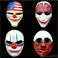 Halloween Masquerade Cosplay New PAYDAY 2 dallas US National flag mask Костюм для клоунов-шутников для мальчика Adult Party Head Mask