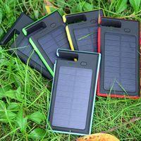 batterie d'énergie solaire 12v achat en gros de-Brand New haute qualité 5000mAh Dual USB Power Bank chargeur de batterie LED pour téléphone portable Pad