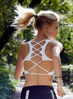 Wholesale 2017 New Design Hollow Out Strappy Sports Bra Workout Gym Wear Fitness Yoga Wear