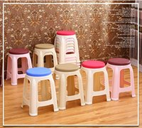 Wholesale Green Plastic Chairs - home stool plastic chair student homework stool furniture shop retail wholesale free shipping red gray green color
