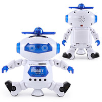 Wholesale Electronic Model Toys - New toys Dancing Robert Electronic Toys With Music And Lightening Best Gift For Kids Model Toy Fast ship out