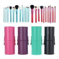 porte-gobelet brosse de maquillage 12 achat en gros de-12 pcs / lot Maquillage Outils Pinceaux Fashional Cosmetic Brush kits de kits