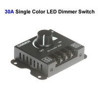 dimmer 12 al por mayor-DC12V-24 30A regulador del interruptor de atenuador LED de un solo color para SMD 3528 5050 5730 lámpara de tira rígida de LED de un solo color