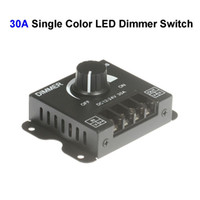 Wholesale Dimmer 12 - DC12V-24 30A Single Color LED Dimmer Switch Controller For SMD 3528 5050 5730 Single Color LED Rigid Strip Lamp