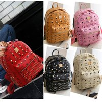 Wholesale Black Stud Bag - Designer cartoon handbag satchel stars Candy women elegant purse Cute ladies double shoulder bags ipad sequin backpack stud rivet - X2333