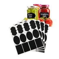 Wholesale Chalkboard Tags Wholesale - Wholesale- 36pcs lot New Wedding Home Kitchen Jars Blackboard Stickers Waterproof Chalkboard Lables Tags Can Be Reused