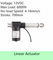 Wholesale Electric Linear Actuator Motor - Heavy Load Capacity 600KGS  6000N 12volt DC 28inch 700mm stroke length speed 4mm s high quality electric linear actuator