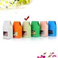 Wholesale Gray Kraft Paper - 50pcs Lot 8cm*15.5cm+5cm*140Mciron Light Gray Stand Up Bags Kraft Paper Box Candy Pouch