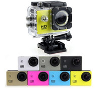 Wholesale camera mini video sport online - 10pcs SJ4000 P Full HD Action Digital Sport Camera Inch Screen Under Waterproof M DV Recording Mini Sking Bicycle Photo Video Cam
