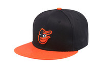 Wholesale Baltimore Hat - 2017 new Free shipping MLB Baltimore Orioles Baseball Cap Embroidery Front Logo Altenate a on-field Fitted Hat