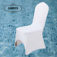 Wholesale Wholesale Wedding Ceremony Supplies - 2017 New Wedding Decoration Universal Elastic Spandex Lycra Chair Covers for Marriage Banquet Party Hotel Celebration Ceremony Event Supply